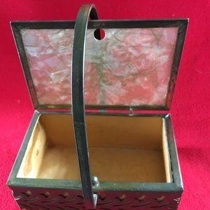Handbags - Vintage Lucite and Metal Filigree Box Purse